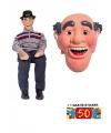 Abraham pop met masker en 50 jaar sticker