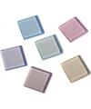 Mozaiek steentjes in pastel kleuren