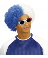 Wit/blauwe afropruik