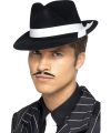 Zwarte gangster hoed