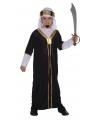 Arabieren sultan kostuum voor kinderen zwart 140 - 8-10 jr Zwart