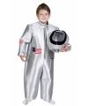 Astronauten kostuum voor kids 7-9 jaar Zilver