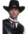 Luxe authentieke cowboyhoed zwart