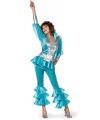 Babba disco kostuum blauw met zilver 38 (M) Blauw