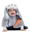 Baby/peuter paashaas verkleedpakje One size Grijs
