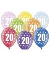 20 jaar ballonnen met sterren