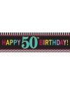50 jaar geworden banner 165 cm