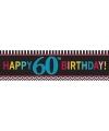 60 jaar geworden banner 165 cm