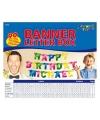 Banner letter box gekleurd