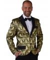 Barok colbert jasje goud voor heren 52-54 (M) Multi