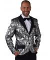 Barok colbert jasje zilver voor heren 52-54 (M) Zilver