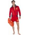 Baywatch strandwachter kostuum heren 48-50 (M) Rood