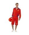 Baywatch verkleedkleding voor heren 48-50 (M) Rood