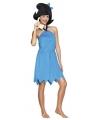 Blauwe Betty jurk met strik voor dames