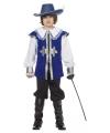 Blauw musketiers outfit voor kinderen