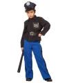 Blauw politiepak jongen 128 Multi