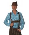 Oktoberfest heren blouse blauw/wit