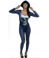 Originele horror kleding bodysuit skull