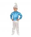 Blauwe dwerg kostuum kinderen 104 Blauw