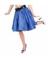 Verkleed Rock and Roll rok blauw voor dames
