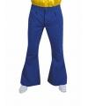 Blauwe hippie heren broeken 56-58 (L) Blauw
