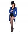 Blauwe lipjas voor dames XL (48-50) Blauw