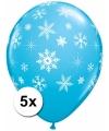 Frozen ballonnen met sneeuwvlokken