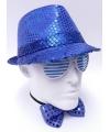 Blauw Al Capone hoedje