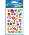 Gekleurde bloemen stickertjes 2 vellen