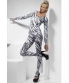 Bodysuit met zebra print dames