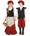 Boerinnen jurk voor meisjes 128 Multi
