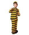Boevenpak zwart/geel voor kinderen 140 Multi