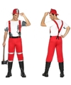Brandweer kostuum met bretels voor heren M/L Multi