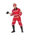 Brandweer uniform kostuum voor heren XL Rood