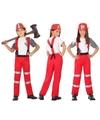 Brandweer uniform kostuum voor jongens en meisjes 116 (5-6 jaar) Multi