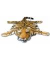 Bruin tijgervel deken 74 x 90 cm