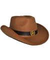 Bruine cowboyhoed van vilt