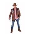Bruine western jas voor heren 52-54 (M) Bruin