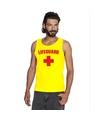 Carnaval reddingsbrigade/ lifeguard tanktop geel heren XL Geel