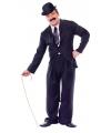 Charlie kostuum voor heren S Zwart