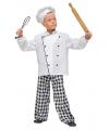 Chef kok pak voor kinderen 164 Wit