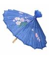 Decoratie parasol China blauw 80 cm