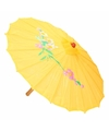 Decoratie parasol China geel 80 cm