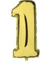 Gouden ballon cijfer 1