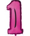 Roze ballon cijfer 1