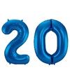 Folie ballon 20 jaar 86 cm