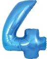 Blauwe ballon cijfer 4