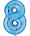 Blauw ballon cijfer 8