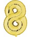 Gouden ballon cijfer 8