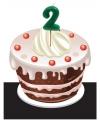 Verjaardags taart kaarsjes 2 jaar